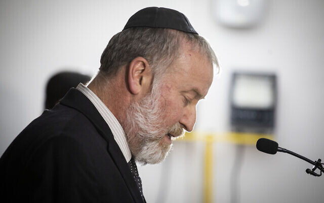 Attorney General Avichai Mandelblit at a press conference at the Justice Ministry in Jerusalem announcing his decision to indict Prime Minister Benjamin Netanyahu for bribery, fraud and breach of trust, November 21, 2019. (Hadas Parush/Flash90)