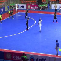 Illustrative: The Iranian national team plays against Kazakhstan at the Asia Pacific Deaf Futsal Championships on February 22, 2019, in Bangkok, Thailand. (Screen capture: YouTube)