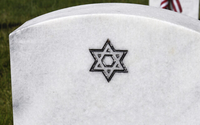 An illustrative photo of a Jewish grave (Robert Alexander/Getty Images via JTA)
