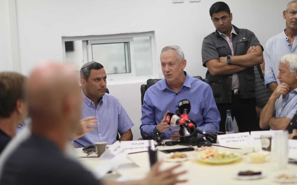 Gantz dismisses claims Gaza violence could force unity government - The Times of Israel