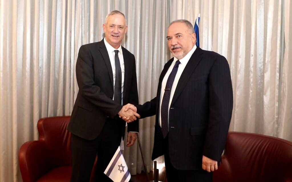 Liberman: Netanyahu said no to unity; Blue and White hasn't given a clear yes - The Times of Israel
