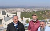 Prime Minister Benjamin Netanyahu in the West Bank settlement of Kfar Etzion on November 19, 2019. (Kobi Gideon/GPO)