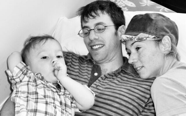 Jenni Kleinman Berebitsky with her husband, Jeff, and their son, Philip, as a baby. (From the film 'Grateful')