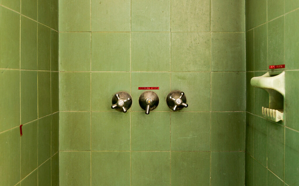 German bathroom fittings imported to pre-state Palestine (Courtesy Liebling Haus/Yael Schmidt)