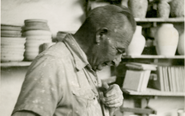 Armenian master ceramicist David Ohannessian, whose work has become one of the defining characteristics of Jerusalem. (Wikimedia commons/CC-SA-3.0/Lantuszka)