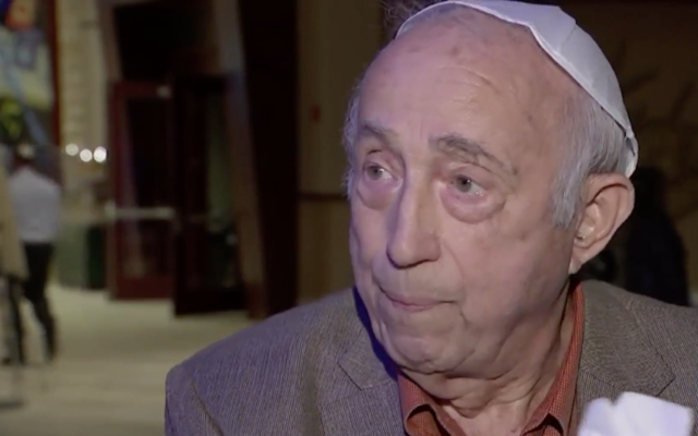 Fred Behrend celebrates the 80th anniversary of his bar mitzvah. (screenshot from CBS 3 Philly)