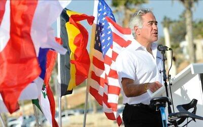 Canadian-Israeli philanthropist Sylvan Adams (courtesy Velo Images)