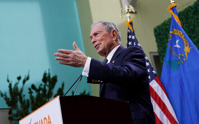 Former New York City Mayor Michael Bloomberg speaks at a news conference at a gun control advocacy event, February 26, 2019, in Las Vegas. (AP Photo/John Locher)