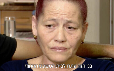 Anne Salomon, a Cuban Jew who immigrated to Israel, then had her citizenship revoked three months later. (Screenshot/Channel 12)