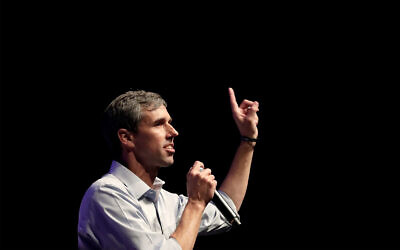 Democratic presidential candidate former Texas Rep. Beto O'Rourke speaks during a campaign rally in Grand Prairie, Texas, October 17, 2019. (AP Photo/Tony Gutierrez)