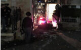 Police on the scene of a brawl in the northern town of Tur'an, November 1, 2019. (Israel Police)