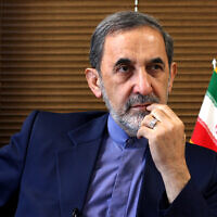 Ali Akbar Velayati, a top adviser to Iran's supreme leader Ayatollah Ali Khamenei, gives an interview to The Associated Press at his office in Tehran, Iran, August 18, 2013. (AP Photo/Ebrahim Noroozi, File)