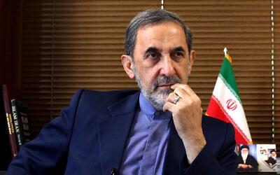 Ali Akbar Velayati, a top adviser to Iran's supreme leader Ayatollah Ali Khamenei, gives an interview to The Associated Press at his office in Tehran, Iran, August 18, 2013. (AP Photo/Ebrahim Noroozi, File)