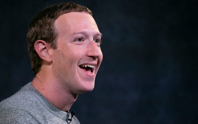 Facebook CEO Mark Zuckerberg speaks in New York, October 25, 2019. (AP/Mark Lennihan)