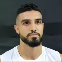 Israeli kickboxer Ameer Asad at the world championship in Turkey, November 27, 2019. (Screenshot: Twitter)