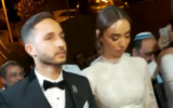 Dor and Orel Huri at their wedding in Beit Hagadi in southern Israel on November 13, 2019. (Screen capture: Instagram)
