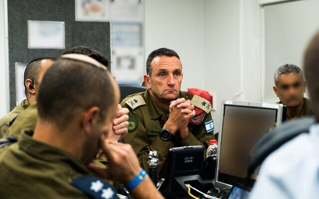 Head of the IDF Southern Command Maj. Gen. Herzi Halevi oversees an operation to assassinate Palestinian Islamic Jihad commander Baha Abu al-Ata on November 12, 2019. (Israel Defense Forces)