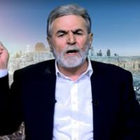 Ziad Nakhala of Palestinian Islamic Jihad (Screen capture: YouTube)
