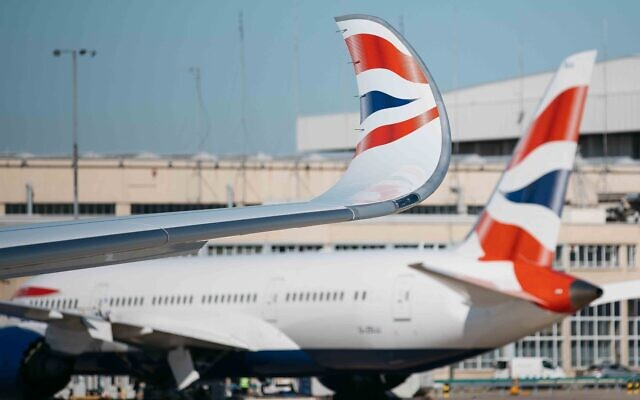 A British Airways A350 at London Heathrow on July 29, 2019 (Nick Morrish/British Airways)