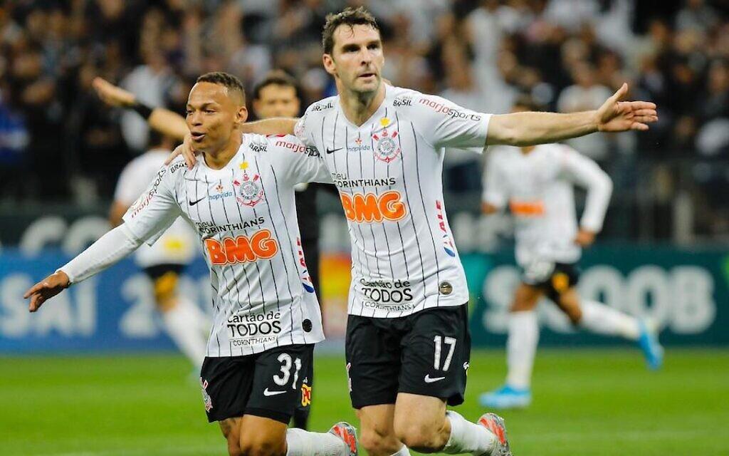 Brazilian soccer team don Stars of David in Kristallnacht tribute