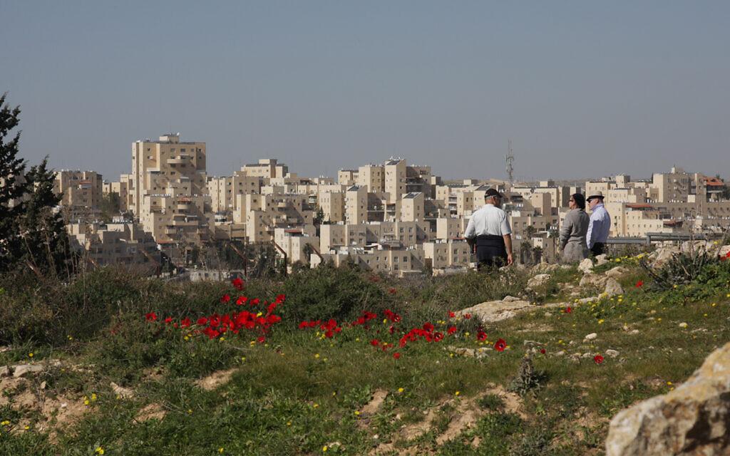 The Duchifat memorial park, dedicated to fallen IDF soldiers, in Jerusalem's Pisgat Zeev neighborhood. (Shmuel Bar-Am)