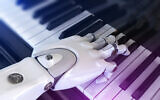 Illustrative image of a robot playing the piano (iLexx; iStock by Getty Images)