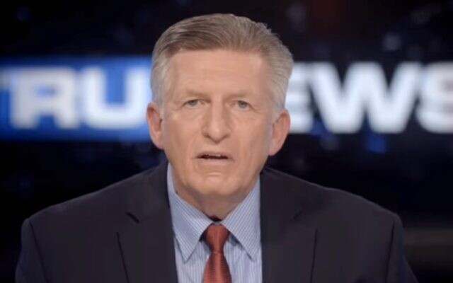 Founder of TruNews Pastor Rick Wiles, who is widely known for his anti-Semitic conspiracy theories, in a rant claiming Jews are trying to overthrow US President Donald Trump, November 22, 2019. (Screen grab via Right Wing Watch)