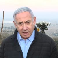 Prime Minister Benjamin Netanyahu tours the northern border on November 24, 2019. (YouTube screen capture)