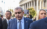 Lev Parnas arrives at a US federal court for an arraignment hearing on October 23, 2019 in New York City. (Photo by Stephanie Keith/Getty Images)