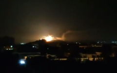 A large explosion is seen over the Damascus skyline in footage purportedly taken on the night between Tuesday and Wednesday, November 20, 2019 (video screenshot)