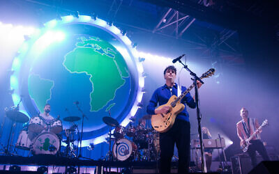 Ezra Koenig, Christ Tomson, and Chris Baio from Vampire Weekend perform at Le Zenith on November 16, 2019 in Paris, France.  (David Wolff - Patrick/Redferns)