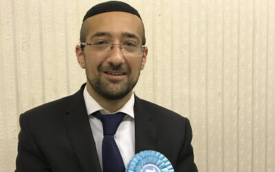 "Yosef David says his Brexit Party is a ""safe and friendly place"" for Jews despite racism allegations. (Courtesy of David via JTA)"