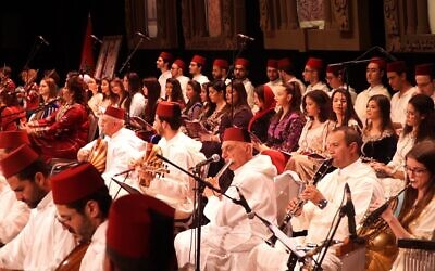 The Israeli Andalusian Orchestra Ashdod performing in Morocco in December 2019 (Courtesy Mike Edry)