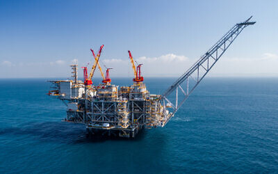 Illustrative: Israel's offshore Leviathan gas platform. (Albatross)