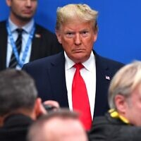 US President Donald Trump attends the plenary session of the NATO summit at the Grove hotel in Watford, northeast of London on December 4, 2019. (Nicholas Kamm/AFP)