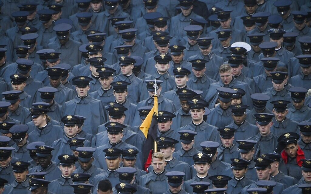 Army and Navy probing 'white power' hand signals at football game