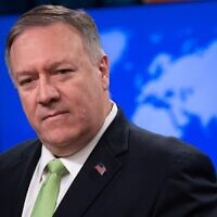 In this file photo taken on December 11, 2019, US Secretary of State Mike Pompeo holds a press conference at the State Department in Washington, DC. (Saul Loeb/AFP)