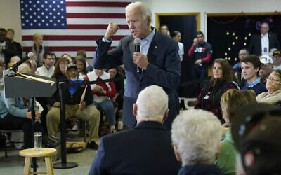 Democratic presidential candidate former U.S. Vice president Joe Biden campaigns at a VFW Hall December 7, 2019 in Oelwein, Iowa.  (Win McNamee/Getty Images/AFP)