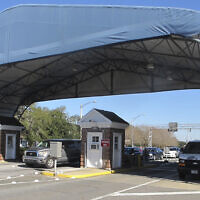 In this Jan. 29, 2016 file photo shows the entrance to the Naval Air Base Station in Pensacola, Fla. (AP Photo/Melissa Nelson, File)