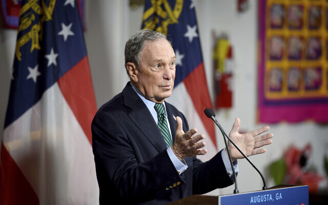 US Democratic presidential candidate and former New York Mayor Michael Bloomberg speaks during a press conference at the Lucy Craft Laney Museum in Augusta, Ga., Friday, Dec. 6, 2019. (Michael Holahan/The Augusta Chronicle via AP)