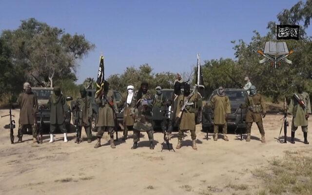 An illustrative image from October 31, 2014, shows Boko Haram jihadists. (Boko Haram, via AP, File)