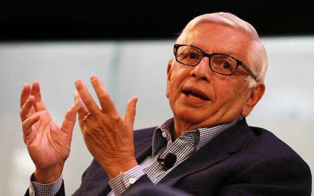 David Stern, former NBA commissioner, speaks at the Hashtag Sports Conference in New York, June 26, 2017. (Adam Hunger/AP Images for Hashtag Sports)