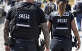 Illustrative: German federal police in Berlin, Germany, on April 19, 2018. (AP Photo/Michael Sohn)