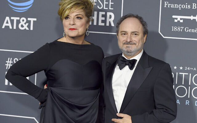 Caroline Aaron, left, and Kevin Pollak arrive at the 24th annual Critics' Choice Awards on January 13, 2019, at the Barker Hangar in Santa Monica, California. (Photo by Jordan Strauss/Invision/AP)