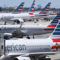 Illustrative: American Airlines aircraft parked at their gates at Miami International Airport in Miami, April 24, 2019. (Wilfredo Lee/AP)