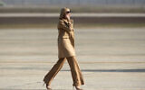 Ivanka Trump, daughter and adviser to US President Donald Trump. walks toward Air Force One at Andrews Air Force Base, Maryland, on November 20, 2019. (Kevin Wolf/AP)