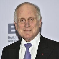 Ronald Lauder attends the 47th International Emmy Awards gala at the Hilton New York, in New York, November 25, 2019. (Evan Agostini/ Invision/AP)