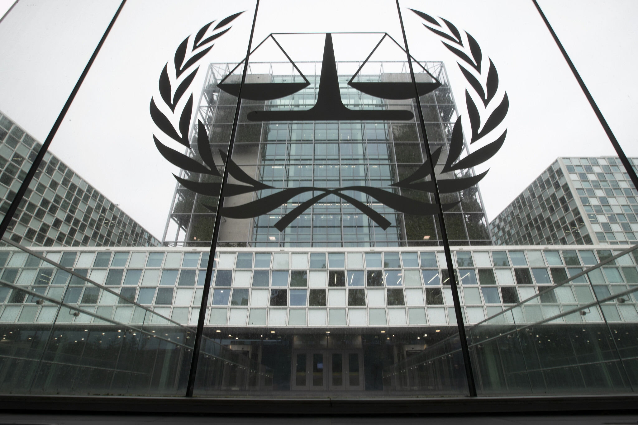 This file image from November 7, 2019 shows the International Criminal Court, or ICC, in The Hague, Netherlands. (AP Photo/Peter Dejong)