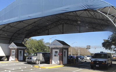 Entrance to the Naval Air Base Station in Pensacola, Florida, January 29, 2016. (Melissa Nelson/AP)