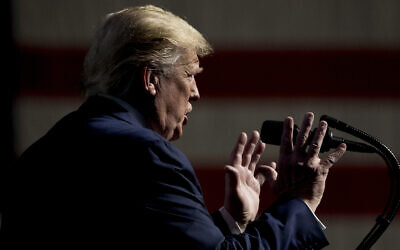 President Donald Trump speaks at the Turning Point USA Student Action Summit at the Palm Beach County Convention Center in West Palm Beach, Fla., Saturday, December 21, 2019. (AP Photo/Andrew Harnik)